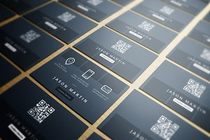 Clean Minimal Dotted Business Card
