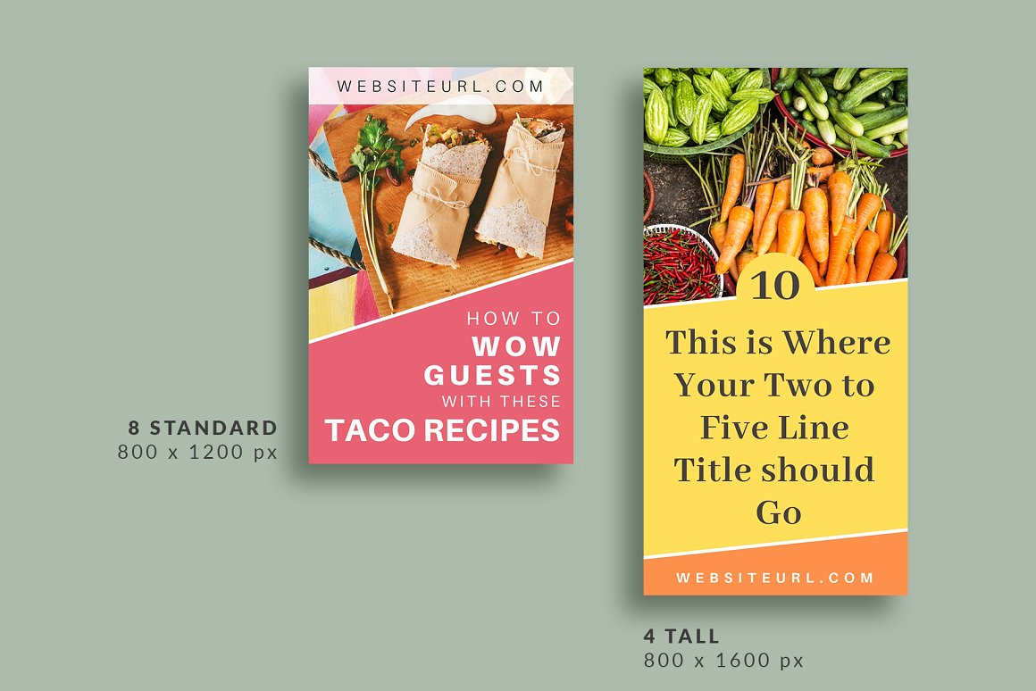 Pinterest Template in Canva - Pantry