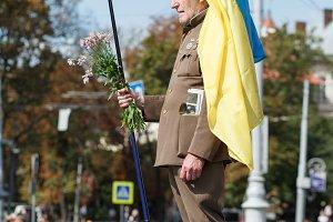 Lviv, UKRAINE - August 24, 2017: A v