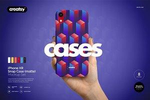 iPhone XR Snap Case Mockup (matte)
