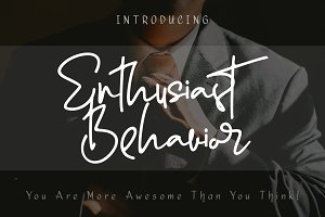 Enthusiast Behavior - Stylish Font