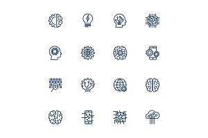Vector icon set for artificial