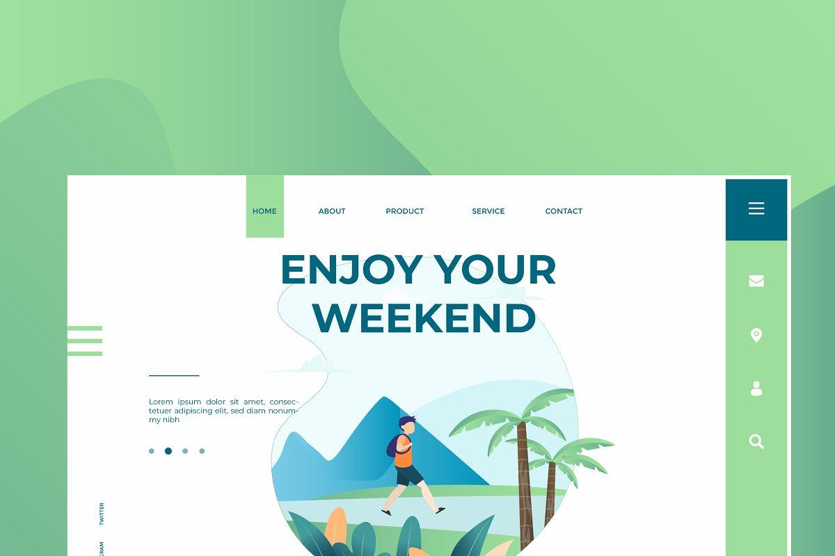 Enjoy Weekend - Banner &Landing Page