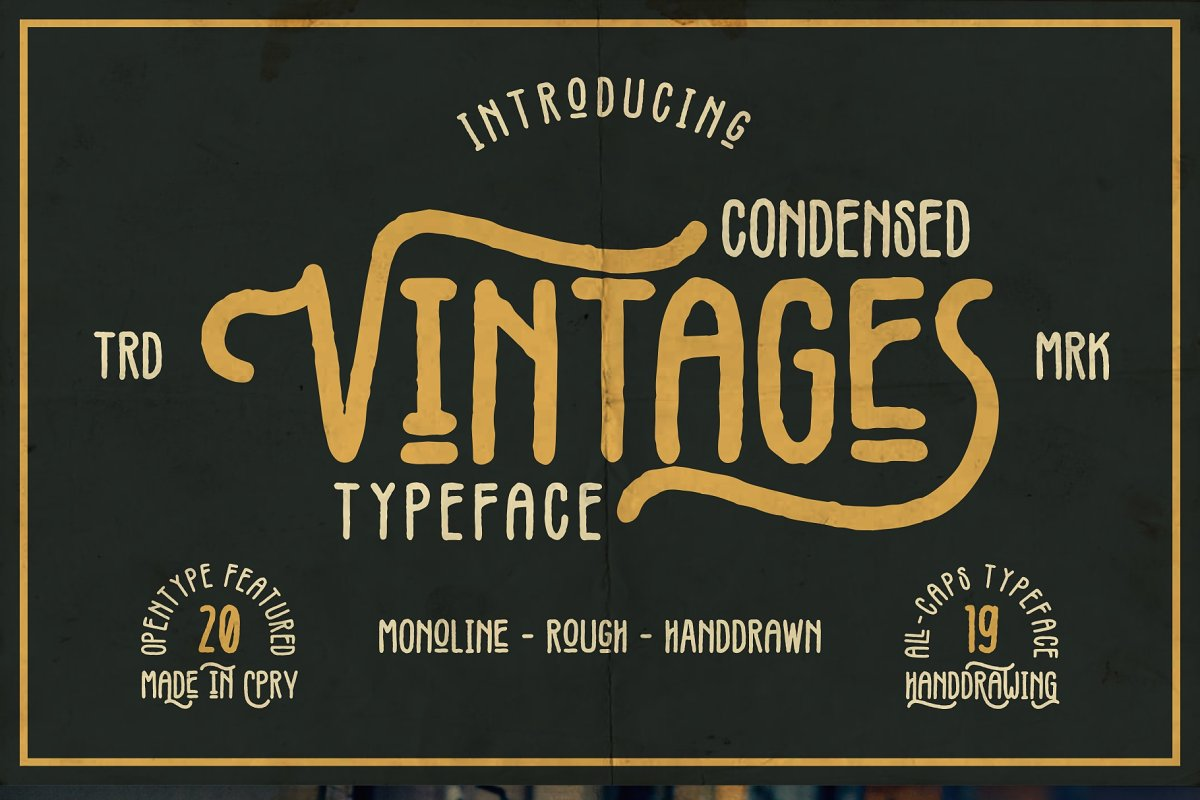 Vintages Typeface in Display Fonts - product preview 8