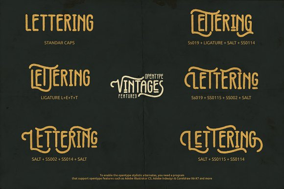 Vintages Typeface in Display Fonts - product preview 4