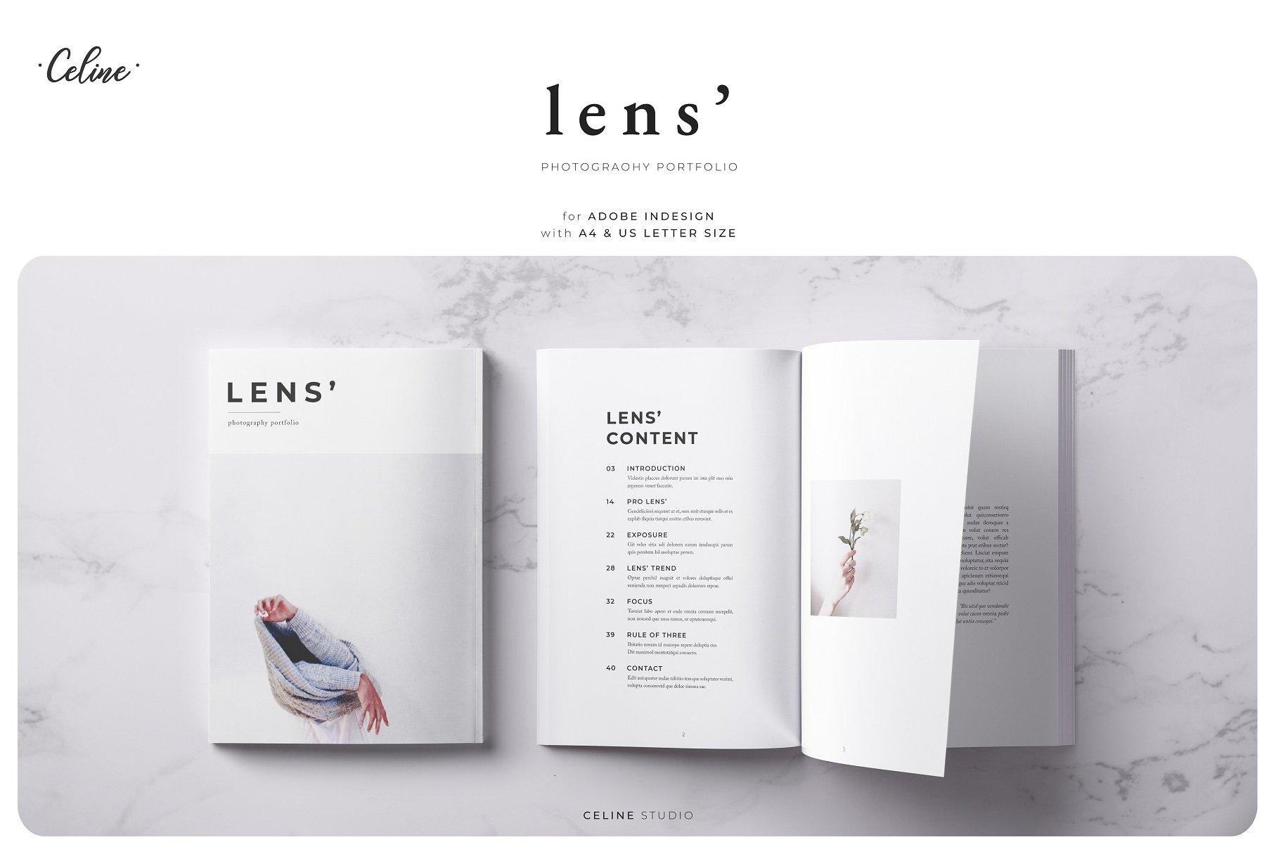 Lens Photography Portfolio Template Creative Daddy