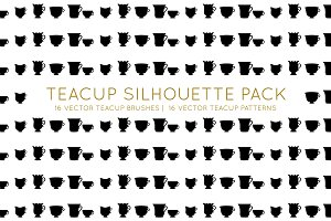 Teacups Brush and Pattern Pack