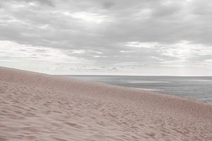 Sea and beach on a calm cloudy day