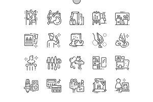 Artistic Studio Line Icons