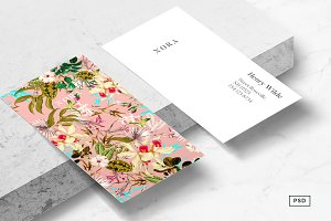 Nora Floral Business Card Template