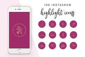100 Instagram Highlight Icons