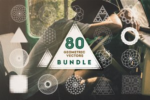 80 Geometric Vectors Bundle