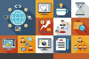 Freelancer icons set