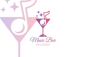 Music Bar Logo Template