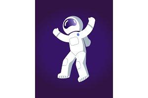 Astronaut in Space Poster Vector