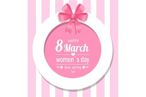 Greeting Card Happy Womens Day Eight