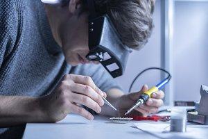 student laboratory work in universit