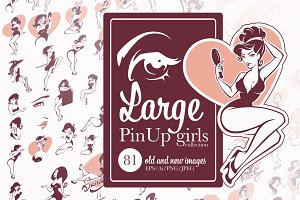 Large PinUp Girls collection