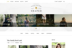 Shaped-Creative WordPress Blog Theme