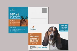 Vet Grooming Service Cards