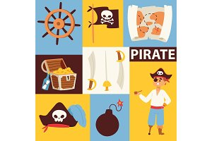 Piratic vector pirating chest and