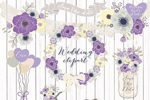 Vector Bicycle wedding clipart