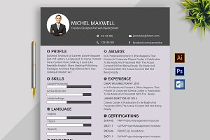 Clean Resume/CV design Template