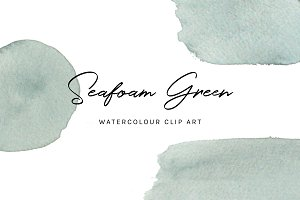 Seafoam Green: Watercolour Clip Art