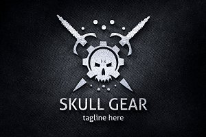 Gamer Skull Gear Logo