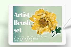 40  artistic brushes for procreate