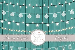 Vector lights clipart