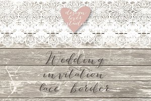 Vector wedding lace