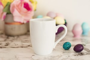 White Mug Mockup - Easter theme