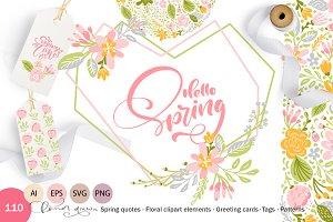 Fresh Feeling Spring Vector Kit SVG