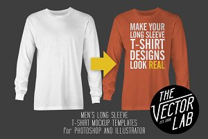 Long Sleeve T-Shirt Mockup Templates