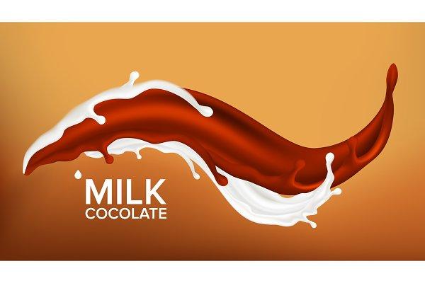 milk chocolate splash vector milky pre designed vector graphics creative market milk chocolate splash vector milky