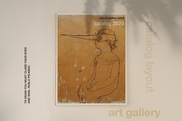 Brochure Templates: Leone Danieli - Art Gallery Catalog