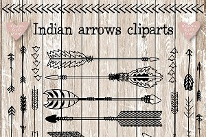 Vector Indian arrows clipart