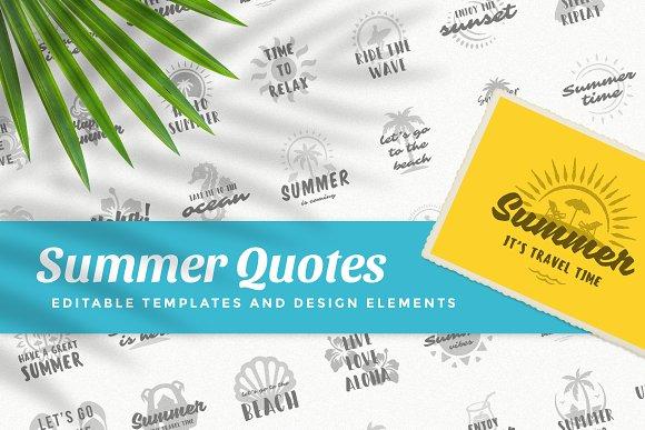 Summer Quotes Illustrations Creative Market