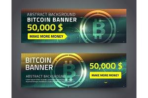 bitcoin banner set.