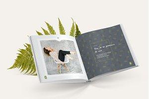 Photo Album Template - Green