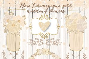 Vector champgne wedding