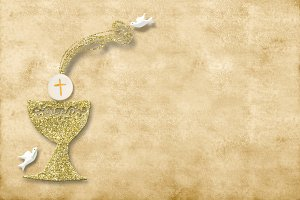 First holy communion invitation card