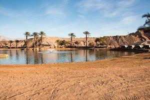 Oasis with lake