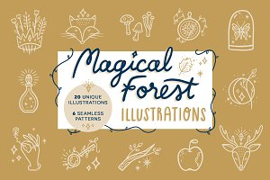 Magical Forest vector illustrations