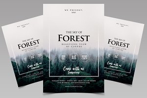 Forest - Event PSD Flyer