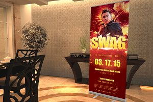 Swag Party Roll Up Banner Template