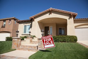 Foreclosure Sign & House