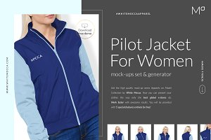Women Bomber Jacket Mock-ups DEMO