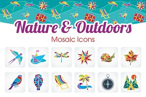 Nature&Outdoors icons set